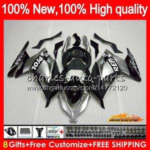 Para la inyección KAWASAKI Repsol plata EX 300 ZX 300R 2013 2014 2015 2016 2017 27HC.13 ZX3R EX300 R ZX3R ZX300R 13 14 15 16 17 carenado