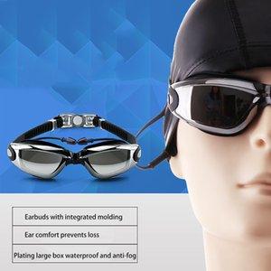 Professional Silicone myopia Swimming Goggles Anti-fog UV Swimming Glasses With Earplug for Men Women diopter Sports Eyewear 925