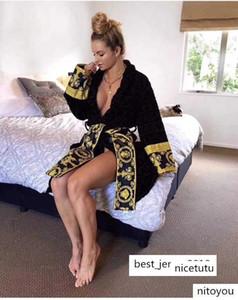 homens, mulheres luxe toalhas robe barroco malha de algodão Banho gola mangas compridas bolsos fechamento envoltório auto-tie na cintura