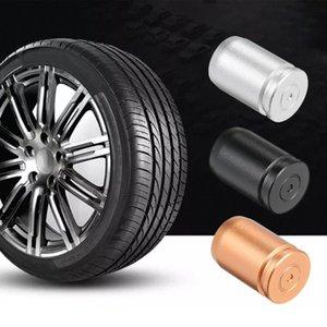 Caliente 4PCS aleación de aluminio de la rueda de coche Neumáticos Válvulas Tapas protectoras de polvo Cubiertas vástago de la válvula de aire del polvo del casquillo