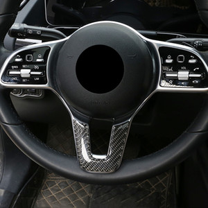 Car Styling Steering Wheel Decoration Cover Sticker Carbon Fiber Interior Accessories For Mercedes Benz B Class W247 GLB 2020