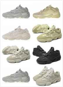 With mask soft vision stone desert rat 500 kanye west reflective mens running shoes bone white utility black salt blush men women trainers