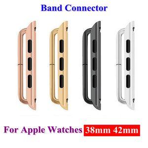 Accesorios de conector de acero inoxidable clásico adaptador de banda accesorios para relojes de manzana serie 1 2 3 38mm 42mm iwatch adaptador de conexión