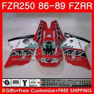 Тела для Yamaha FZR250R fzr250 работает FZRR ФЗР 250р 86 87 88 89 123HM.23 fzr250rrr fzr 250 fzr-250 глянцевый красный запас 1986 1987 1988 1989 обтекатель комплект