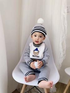 Para niños ropa de bebé recién nacidos Niño Niña de dibujos animados mono Romper + Hat Trajes Set Monos de niños para los recién nacidos