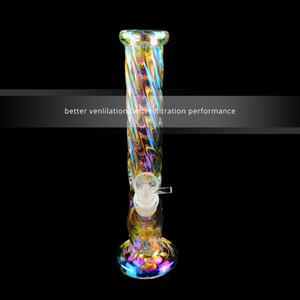 SICAK Popüler 1 adet cam bowl1pcs Downstem ile 12.5 İnç Gökkuşağı Bulut Stil Cam Bongs Su Boruları