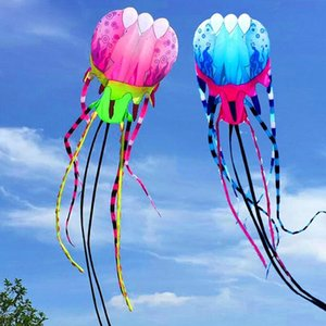 free shipping 30m 45m large jellyfishs Other Toys flying outdoor octopus reel power kite for adults 3d kite factory parafoil toys