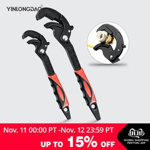 12-35 / 30-65 mm Tuyau Clé universelle Clé Open End Spanner Set haute teneur en carbone en acier snap N Grip Outil Plumber multi outils à main