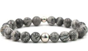 8mm fh4c Reiki Chakra agate image bracelet en pierre perle or Buddha Yoga perle en pierre huiles essentielles diffuseur Bracelets