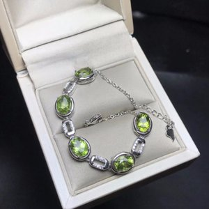 natural peridot bracelet beautiful mood stone 925 silver exquisite craft professional natural gem shop beautiful necklaces pendants supplies