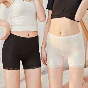 Pantalones de encaje de seguridad Modale antidesgaste Off, pantalones de seguridad de gran tamaño de algodón de la entrepierna de los calzoncillos señora Wear