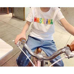 Erkekler ve Kızlar Tasarımcı T-shirt Çocuk Marka Moda Kız Harf ve Ayı Kısa Gömlek 2020 Yaz Yeni Üst Baskı Kalitesiyle Tops
