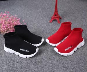 Marka Tasarımcılar Çocuk Spor Boots Yün Örgü Nefes Atletizm Erkekler ve Kızlar Koşu Ayakkabı Bebek Sneakers Yeni Çorap Ayakkabı