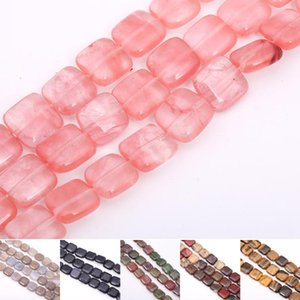 Wholesale 12*12mm Natural Unakite Beads Square Shape Loose Spacer Beads For Jewelry Making DIY Bracelet Necklace 33PCS Strand