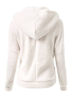 Yeni Kış Sonbahar Sıcak Ceket Kapşonlu S-5XL Casual Kadın Sweatershirt Coat Katı Yumuşak Polar Kadın Coat Ss214
