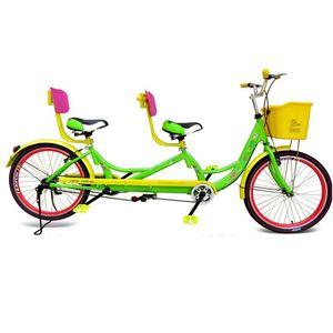 Dobles amantes de la bicicleta Los padres y familia de los niños de viaje no plegable Luz Sightseeing bicicletas