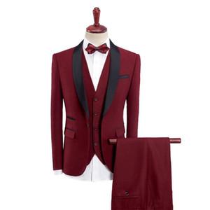 Men's Suits & Blazers (Jackets+Vest+Pants)2021 Brand Clothing Male High Quality Pure Cotton Business Suit Men's Slim Wedding Dress Three-pie