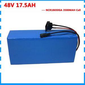 Hochwertige 1000W 48V 17.5AH elektrische Fahrradbatterie 48V 17AH Scooter Lithium-Batterie Verwendung NCR GA 3500mAh Zelle 30A BMS