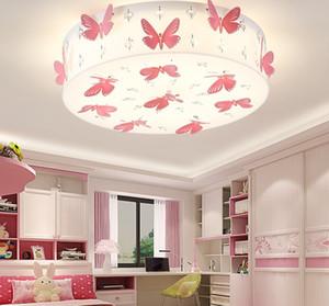Романтический бабочка девушки номер потолочный светильник мода LED Принцесса номер Кристалл потолочное освещение спальня потолочное освещение LLFA