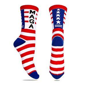 Stitching color America national flag printed socks 2020 soft comfort men cotton Trump sock novelty personality sports socks