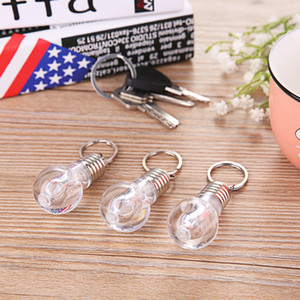 2020 New fashion gifts Lovely couple's key chain LED lighting bright colorful bulbs Keychain   lamp beads key ring   small pendant lamp