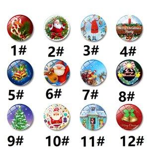 Articoli da regalo di Natale Fridge Magnets vetro Elk Babbo Natale decorativo Frigorifero Magneti Natale Presente Forum JXW165