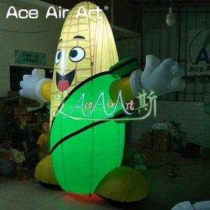 modèle d'impression géant usine gonflable rafles de maïs gonflable dessin animé maïs gonflable pour l'exposition agricole / commerce décoration spectacles