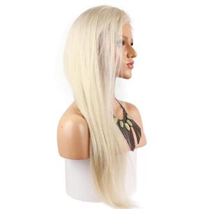 # 60 Platinum Blonde Lace Front perruque brésilienne profonde perruques de cheveux humains avant de dentelle partie pour les femmes noires