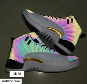 New Chameleon 12 Gym red WNTR PE Michigan Psny Suede 12S Mens Basketball Shoes Sneakers Lemonade Designer Zapatos