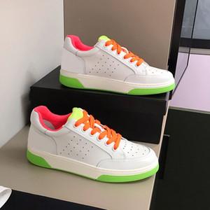 2020 para mujer para hombre Zapatos zapato casual plana Hermosa zapatillas de deporte de los diseñadores de lujo del cuero de zapatos de la jalea de color con cordones de los zapatos de vestir caja original