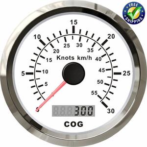 Confezione da 1 tachimetro GPS da 85 mm 0-30Knots Quota di velocità da 0-55km / h Contachilometri impermeabile con retroilluminazione per barca
