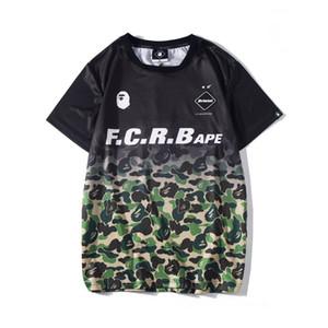 Gelgit Marka Lover Degrade Camo Spor Nefes Splice T-Shirt Erkek Kadın Yaz Kısa Kollu Siyah Yeşil Camo Splice T-Shirt