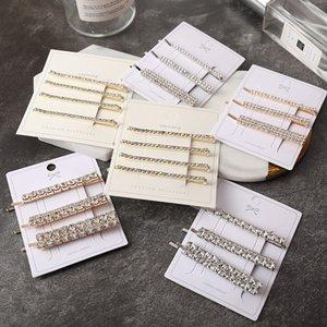 3 PCS Set Victoria Lied IN Kopfschmuck Art und Weise Korea-Art-Haar-Clips für Frauen Kristallhaarspange Diamant-Pins