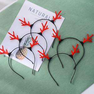 Flocking Antlers Hair Hoop Girl Прекрасные Волосы Группа Мультфильм С Рождеством Подарок Hairhoop С Красным Черным Цветом 0 8bq J1