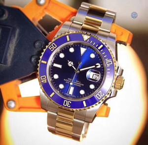 U1 مصنع البائع المعصم الياقوت الأزرق السيراميك 40MM مدي الفولاذ المقاوم للصدأ 116613 116610 التلقائي الميكانيكية الرجال الرجال ووتش الساعات