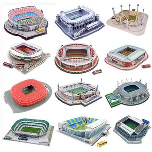 3D Three-dimensional Puzzle Football Soccer Field Puzzle DIY Toy Gift for Children Adult Kids Puzzle Toys Y200317
