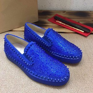 Designer Sneakers low cut Spikes Flats shoes Red Bottom For Men and Women Leather Sneakers Party Designer shoes 0505071
