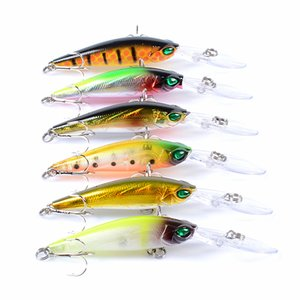 New Lifelike tight wobbling action Shad Crankbait 9.4cm 6.2g 3D Eyes Long Tougn Wobbler bass fishing bait