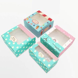 2020 New Arrival Craft Paper Cake Box Packaging 2 4 6 cupcakes boxes Wedding Birthday home party pastry gift boxes 5pcs