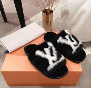 2020 edición limitada llena de pelo de visón hogar y el hotel zapatillas cómodas suelas Últimas Luz y cálidos para mujer zapatillas de cuero suave piel