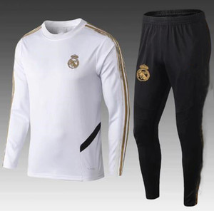 thai quality 19 20 Real Madrid Soccer Tracksuit Jacket 2019 camiseta de futbol SERGIO RAMOS BENZEMA MODRIC Jogging soccer Training suit