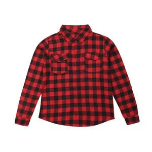 Plaid T-shirt assorti dames Coton Lettre vrac d'été rouge Casual Emmababy Mode Femmes Hauts Chemisier