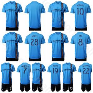 New York City 2019 2020 MLS Soccer 10 Maximiliano Moralez Jersey Men Set 28 Alexandru Mitrita 8 Alexander Ring Kits de camiseta de fútbol Uniforme
