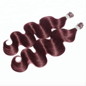 Customized Double Drawn Body Wave I Tip Hair Extension 1grams stands 100pcs set