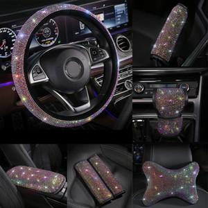 Рулевое управление Starry Sky Car Wheel Cover переключения передач Воротник Handbrake крышки Seatbelt автомобилей Set Series