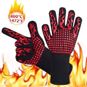 500 درجة مئوية الحرارة قفازات مقاومة كبيرة لفرن للشواء الخبز الطبخ قفازات ومعزول سيليكون BBQ قفازات أدوات مطبخ Tastry