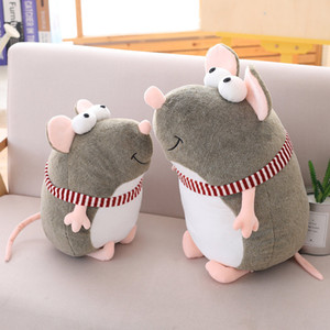 Big Rat Mascot Big Eyes Sprouting Rat Plush Toy Scarf Mouse Doll Dolls Activities Gifts Wholesale Custom