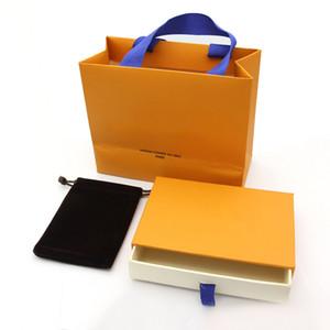2019 Yeni Moda yüksek kalite turuncu marka bilezik paketi bot set orijinal çanta ve velet çanta takı hediye turuncu kutu