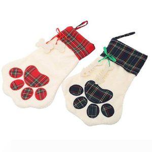 2018 neuer heißen Verkauf Sherpa paw Strumpf Hund und Katze Tatze Strumpf 2 Farben stock Weihnachtsgeschenk Taschen Dekoration