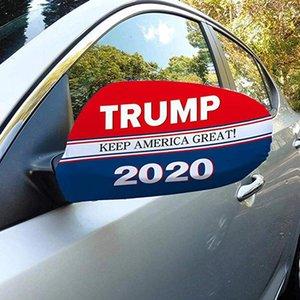 Presidente Trump Eleição Car Capa Espelho US Elastic Cloth Tampa do carro Ferramenta Decoração Espelho Retrovisor Protective Covers cordão LJJA2633